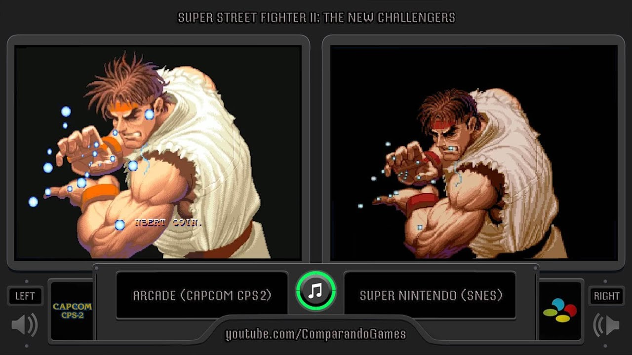 Dual Longplay 46 Super Street Fighter Ii Arcade Vs Snes Side By Side Comparison Youtube