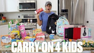 WHAT TO PACK IN YOUR KIDS' CARRY ON FOR LONG FLIGHTS WITH KIDS | IN-FLIGHT SNACKS AND ENTERTAINMENT