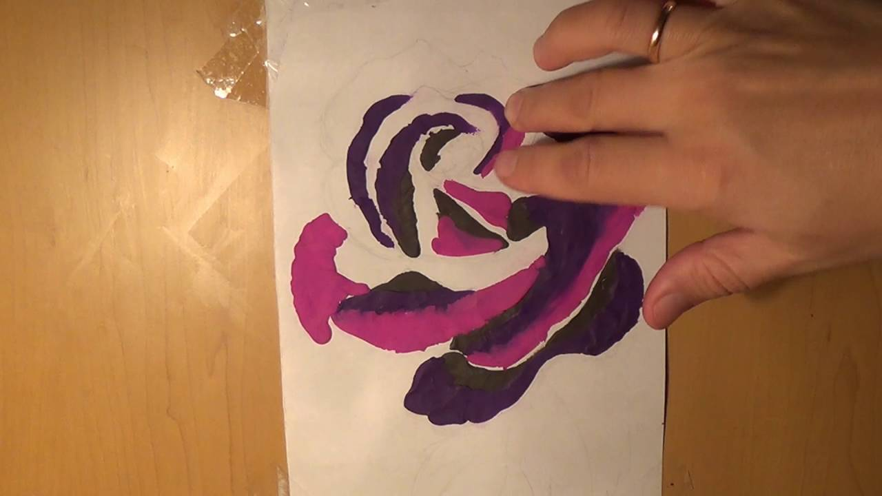 Making Plasticine Pictures. Rose diy. Роза - аппликация из пластилина. Поделки для детей
