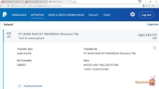 Mencairkan Uang Dollar Dari PayPal ke Rekening Bank Indonesia - Menarik Uang Dollar Ke Rupiah
