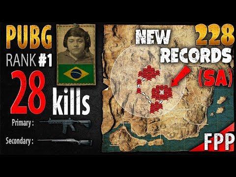 [Eng Sub] PUBG Rank 1 - BURGAOfps 28 kills [SA] SOLO FPP - PLAYERUNKNOWN'S BATTLEGROUNDS #228