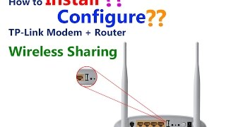 configure usb sharing with tp link td w8968 wireless n usb adsl2 modem router