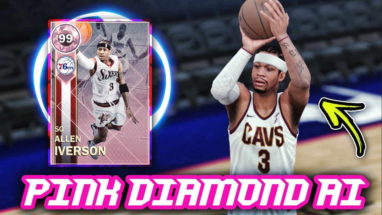 219cef175c436 NBA 2K18 PINK DIAMOND 99 OVERALL ALLEN IVERSON GAMEPLAY!  50+ POINTS ...