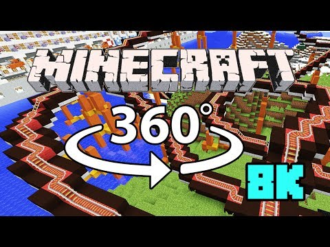 Minecraft [VR] 360° 8K 60 Fps – When Pigs Fly MEGA COASTER