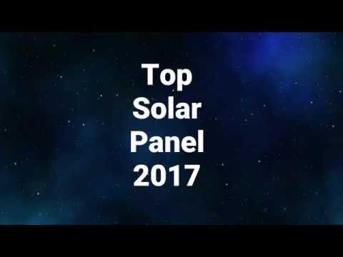 Best Solar Panels 2017