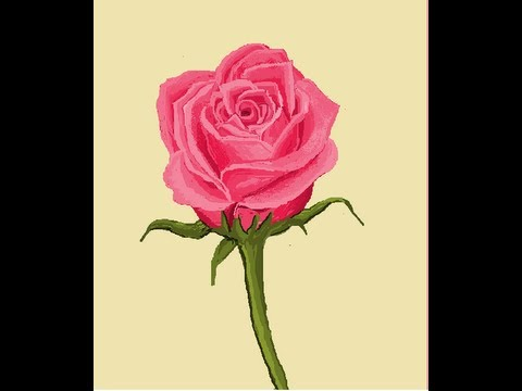Ms Paint Beautiful Pink Rose Sd Painting