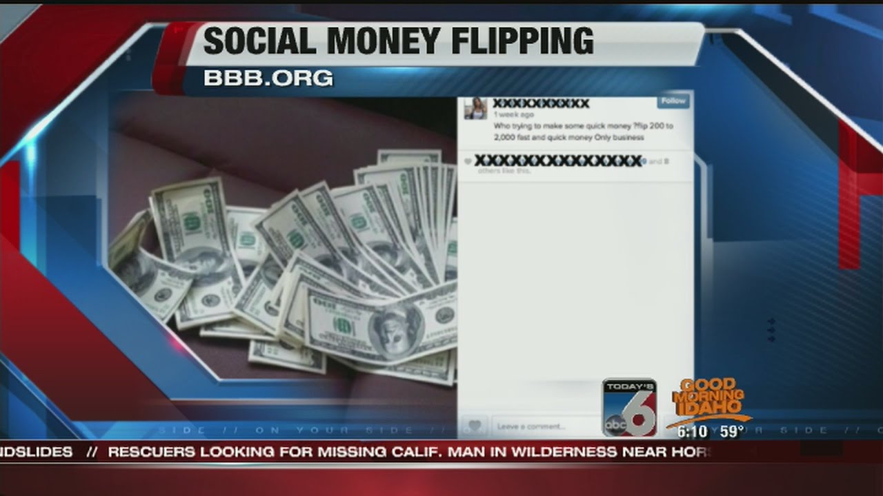 Money Flipping Scam Targets Social Media Users