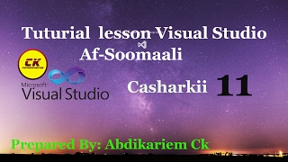 Casharkii 11aad Formular Erstellen der Visual Studio-Af soomaali