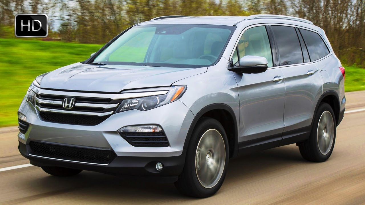 2017 Honda Pilot Elite Awd Lunar Silver Metallic Exterior Interior Design Road Drive Hd