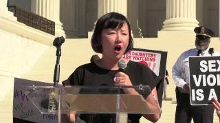 Rally to #StopKavanaugh on the SCOTUS Steps in Washington, DC
