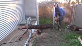 Homebrew Log Holder