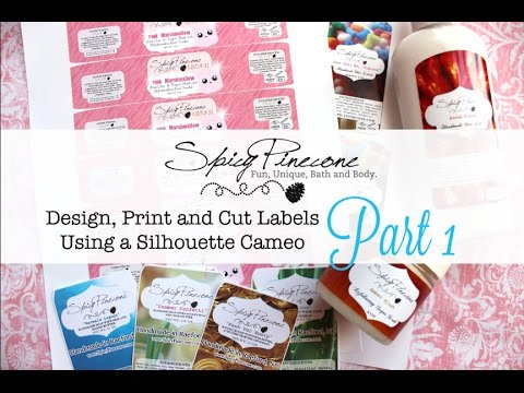 Making Labels with a Silhouette Cameo - YouTube