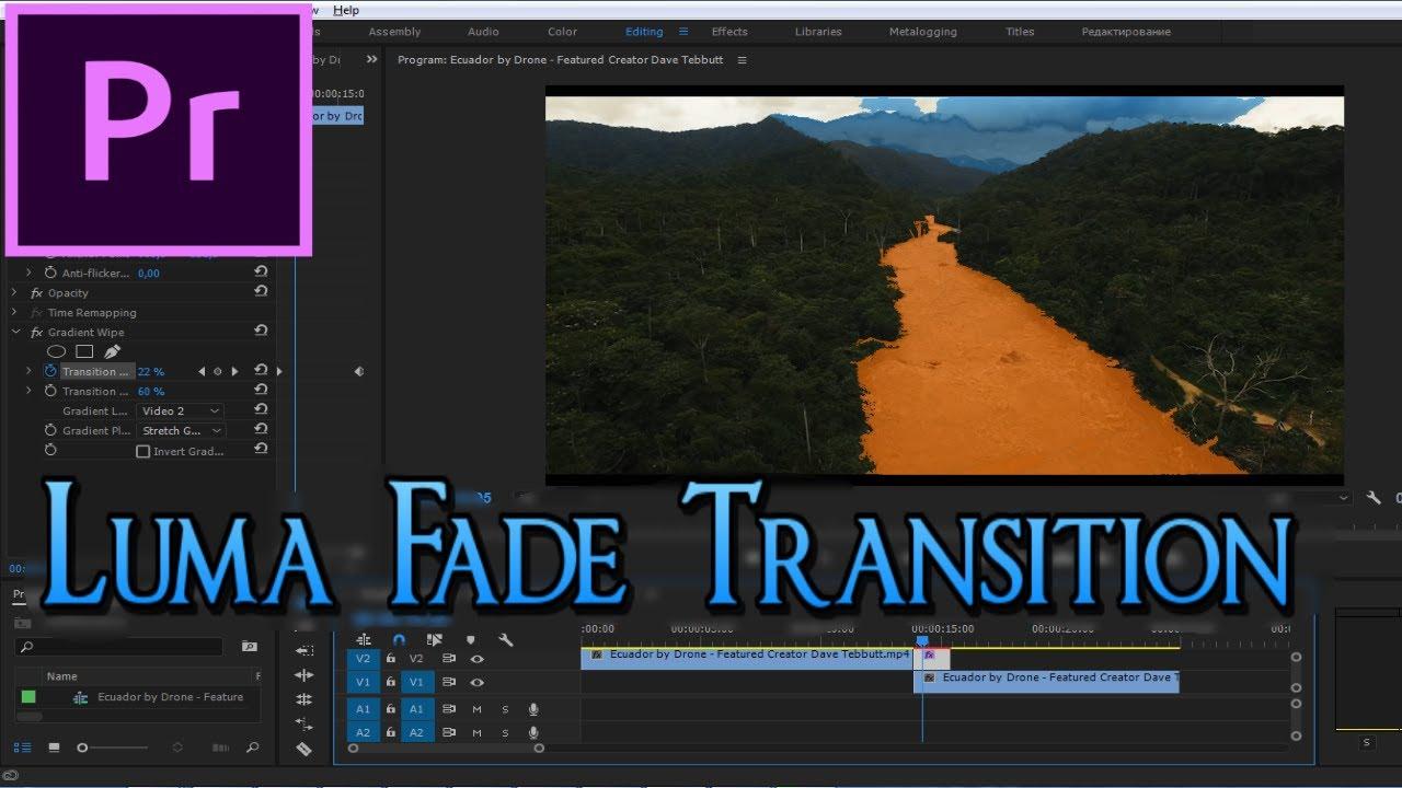 Cool Luma Fade Transition using Gradient Wipe Plugin - Adobe Premiere Pro