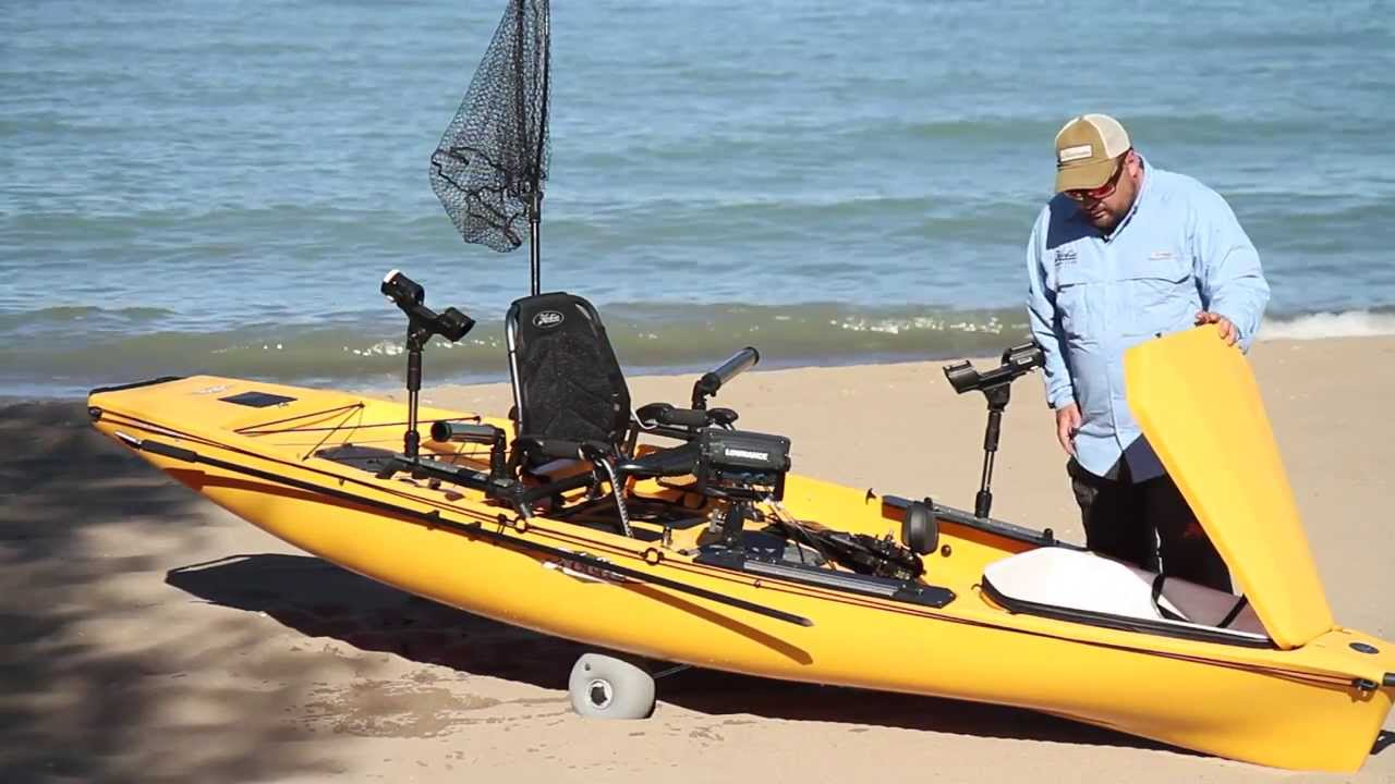 Mirage Pro Angler 14 - Pedal Fishing Kayak | Pro Anglers | Hobie
