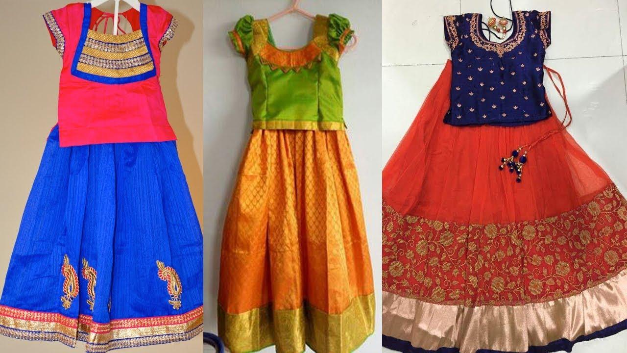c294ed6eeea Latest Kids Pattu Langa Designs kids pattu pavadai Collections by ...