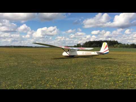 Slingsby glider takeoff