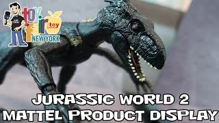 Jurassic World Mattel Figure Reveals Product Display at New York Toy Fair 2018