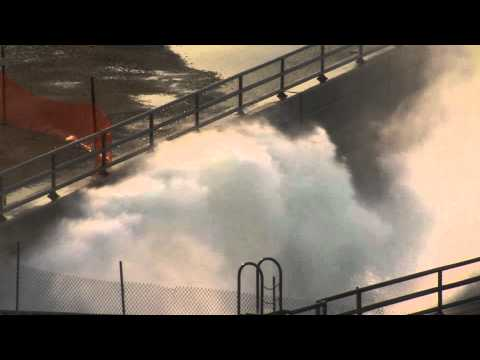 Oahe Dam Emergency Open Amazing Video  7 June 2011