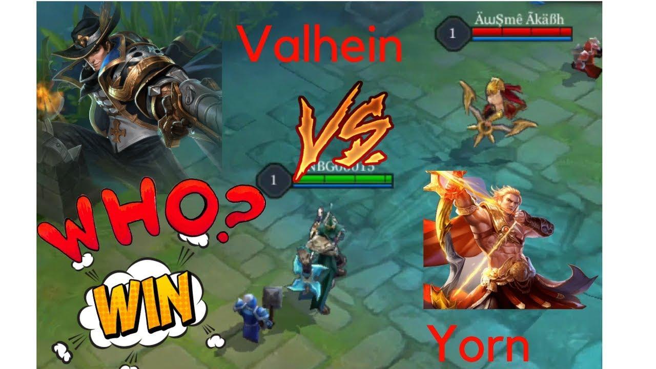 Valhein Vs Yorn The Two Remarkable Marksmen Arena Of Valor Aov V