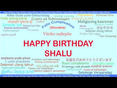 Shalu   Languages Idiomas - Happy Birthday