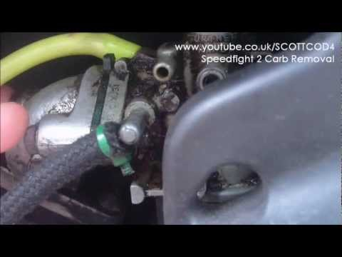 How To Remove Carb From Peugeot Speedfight 2 Youtube