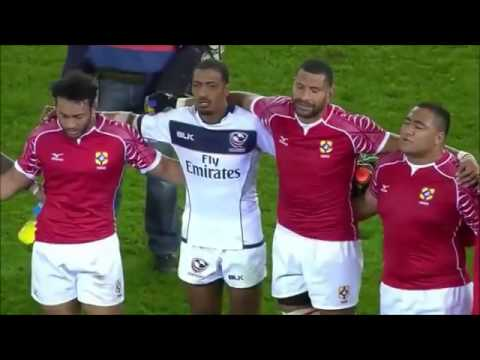 Tonga invited USA to their huddle and post match song