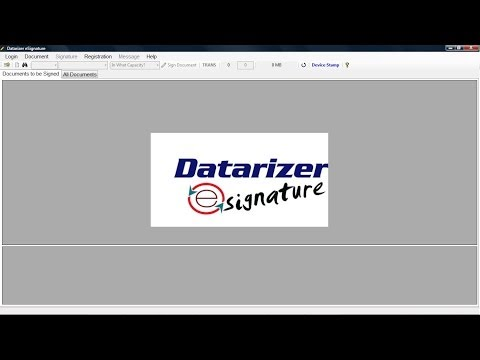 Datarizer eSignature Overview - Sign electronic documents