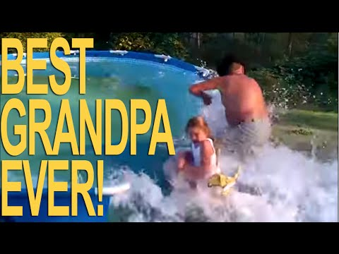 CRAZY GRANDPA BUSTS SWIMMING POOL!