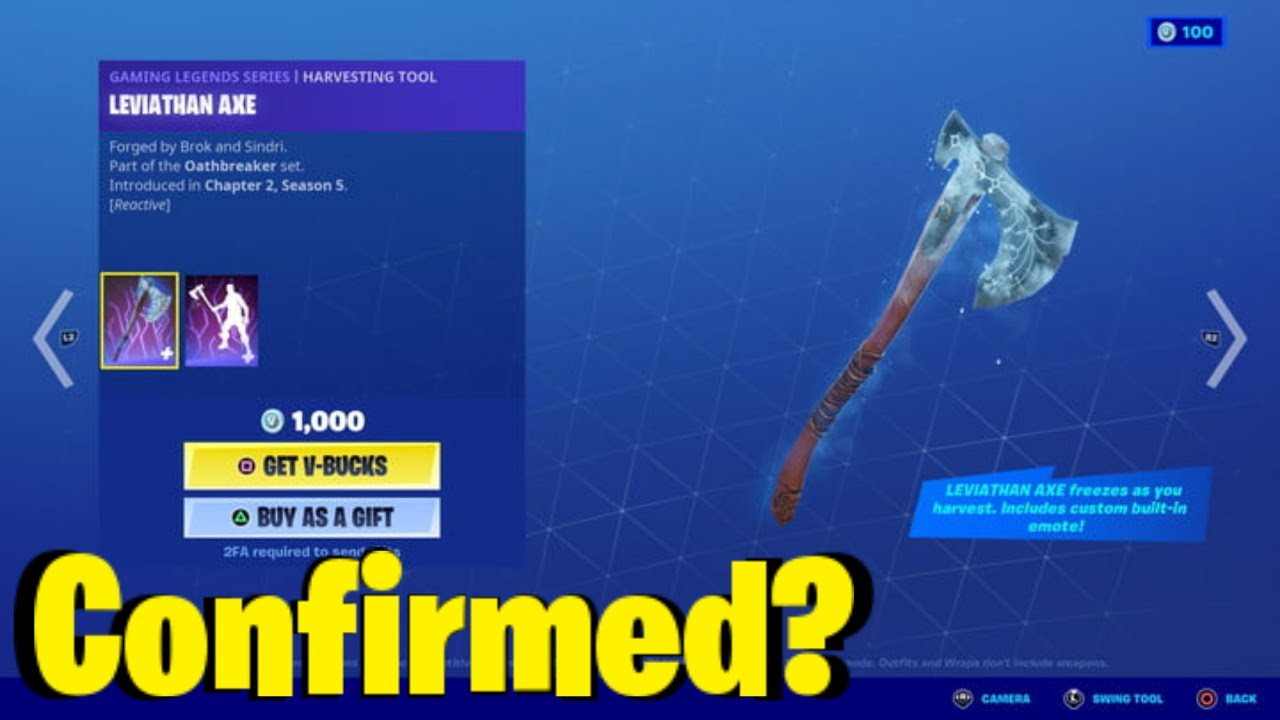 Leviathan Axe Confirmed Return Release Date In Fortnite Item Shop! (Leviathan Axe Coming Back)