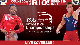 2015 P&G Gymnastics Championships - Jr. Men's Podium Training