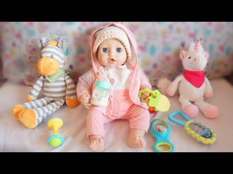 Моя Кукла Беби Анабель/Как Мама Готовилась к прогулке: Пупсик кушает и одевается/Игрушки для девочек