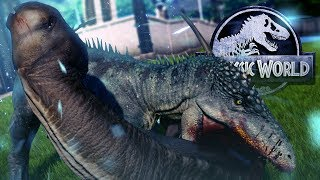 A FLESH GRAZER - Jurassic World Evolution - New Carcharodonto & ALL Dinos! - Cretaceous DLC Gameplay