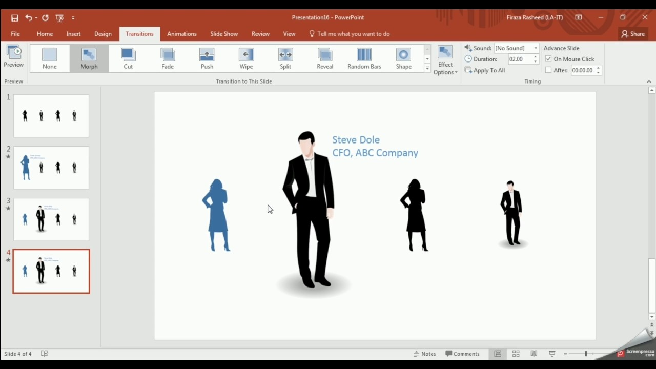 powerpoint 2016 new animation feature