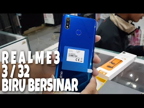 REALME 3 3/32 BLUE COLOR Hanya 1.999.000 Unboxing & Review
