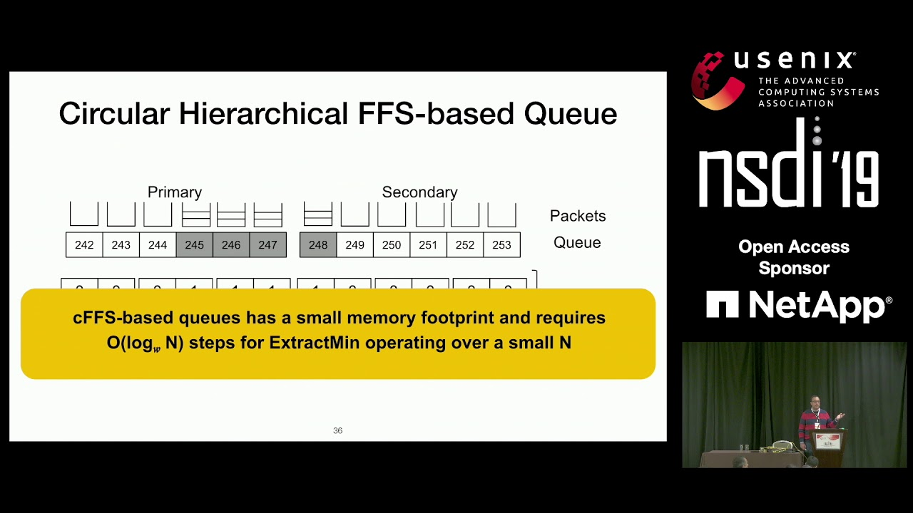 NSDI '19 - Eiffel: Efficient and Flexible Software Packet Scheduling