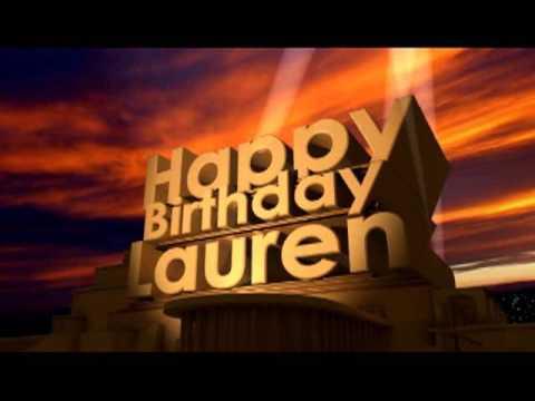 happy birthday lauren meme Happy Birthday Lauren   YouTube happy birthday lauren meme