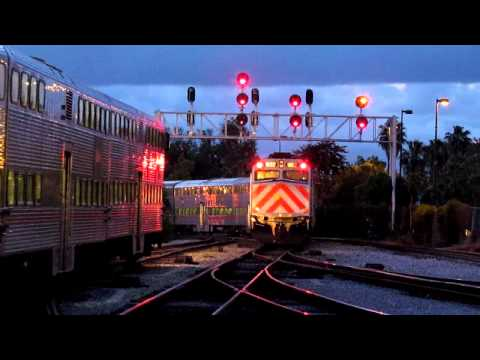 Amtrak Caltrain Three Way Action at San Jose Diridon
