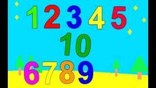 Числата от 1 - 10 образователно видео за деца бг аудио