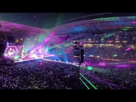 Sky full of stars - Coldplay live in Leipzig (AHFOD Tour 2017 june 14.) GoPro5Hero