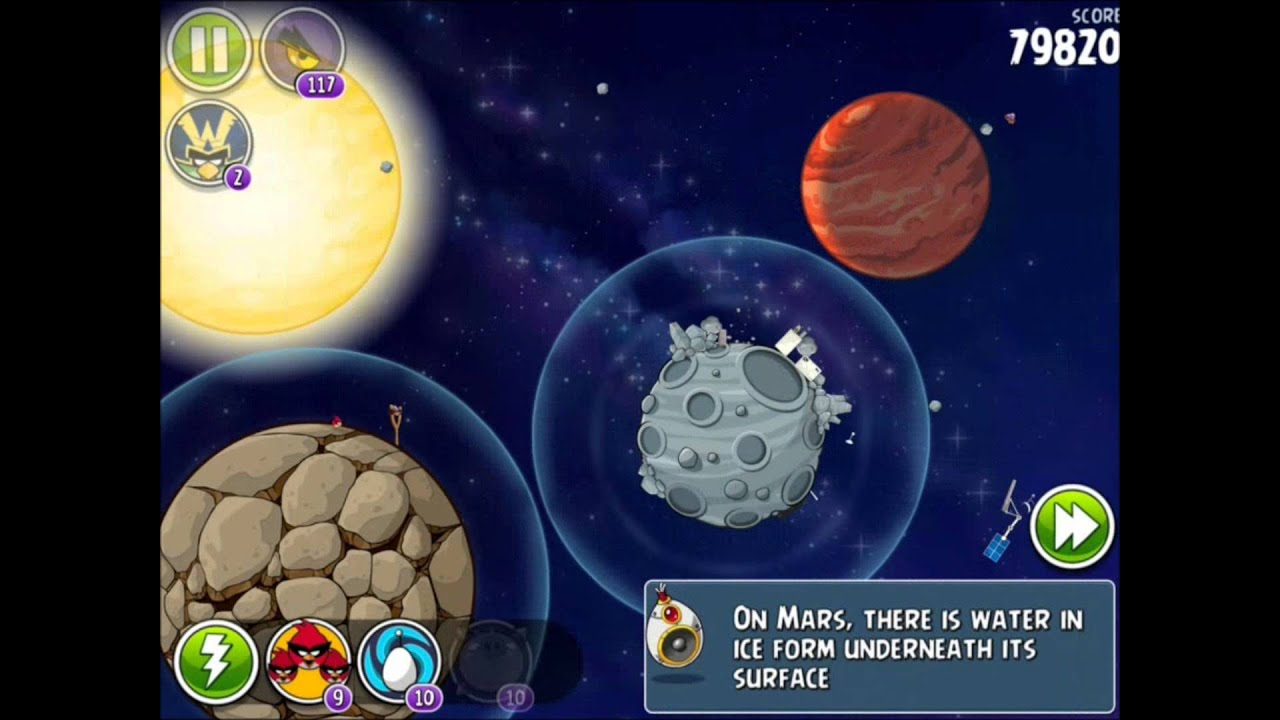 Angry Birds Space - Solar System. Level 10-5 Mars. 3 stars - YouTube