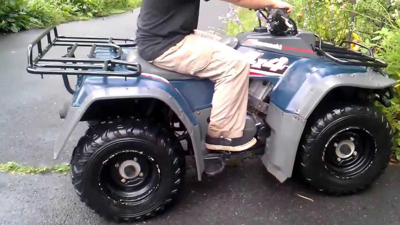 1993 KAWASAKI BAYOU 400 4X4 LIQUID COOLED ATV FOR SALE - YouTube
