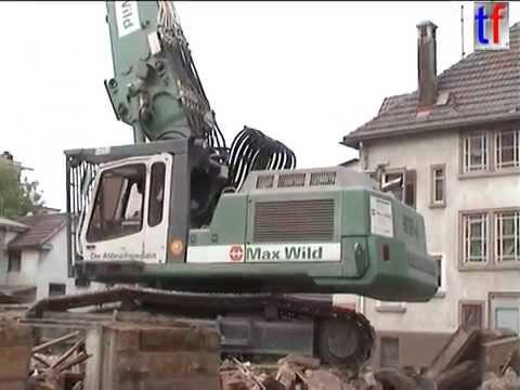 **GREEN** Liebherr R954B HRD, Max Wild, Abbruch Ludwigsburg, Germany, 04.06.2004.