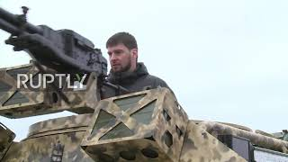 Russia: Kadyrov attends brand new military buggy showcase in Grozny