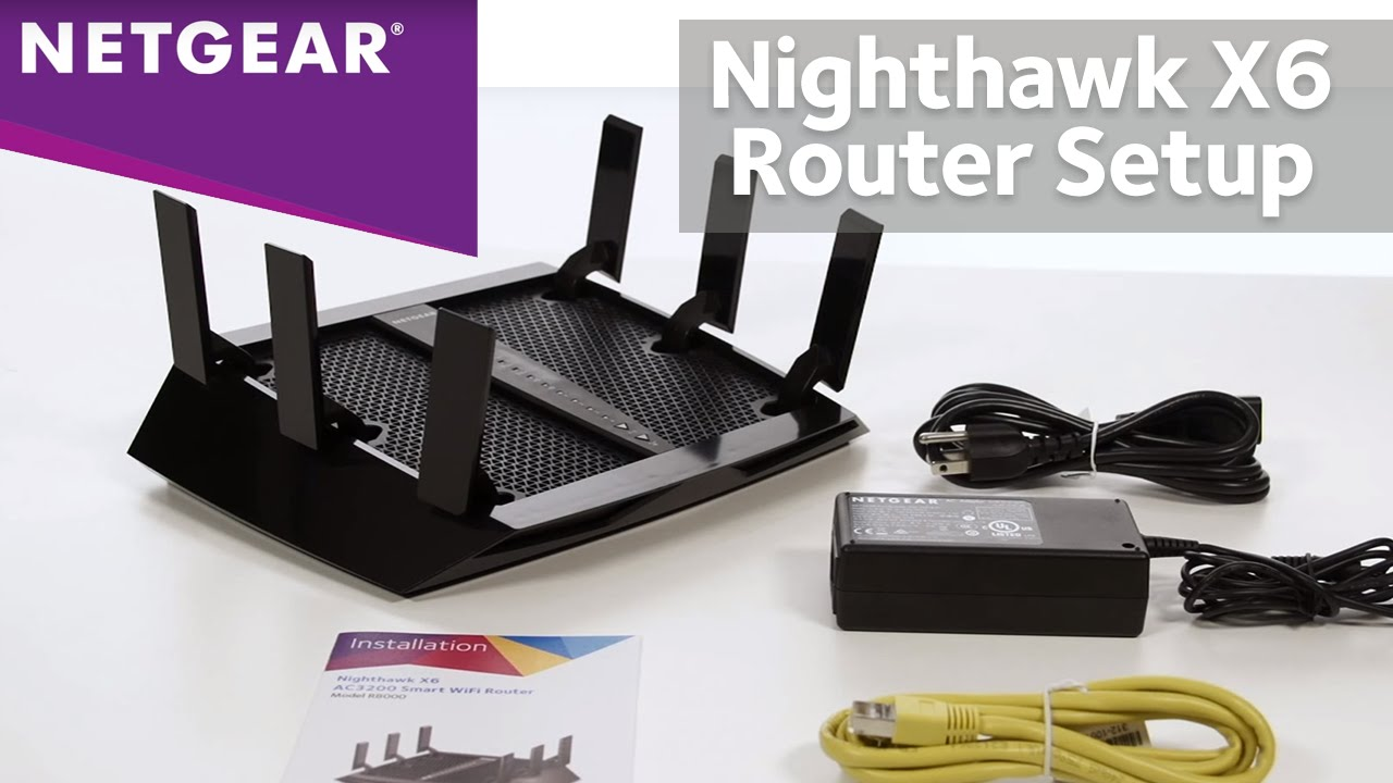 how to setup netgear nighthawk x6 wifi router r8000 ac3200 tri band wireless youtube [ 1280 x 720 Pixel ]