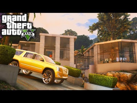 Franklins NEW Villa Mansion! GTA 5 Real Hood Life 3 #53