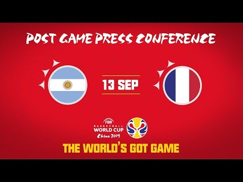 Argentina V France - Press Conference - FIBA Basketball World Cup