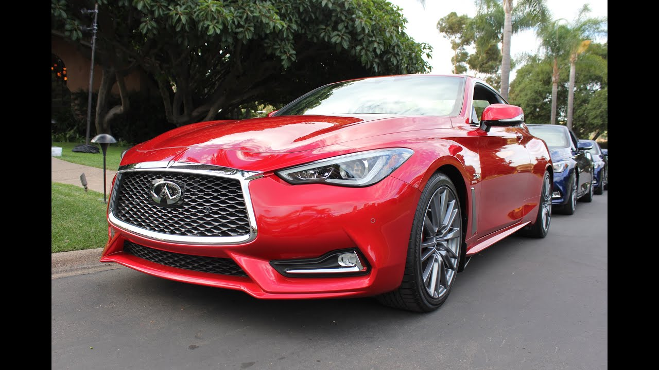 2017 infiniti q60 red sport walkaround youtube. Black Bedroom Furniture Sets. Home Design Ideas