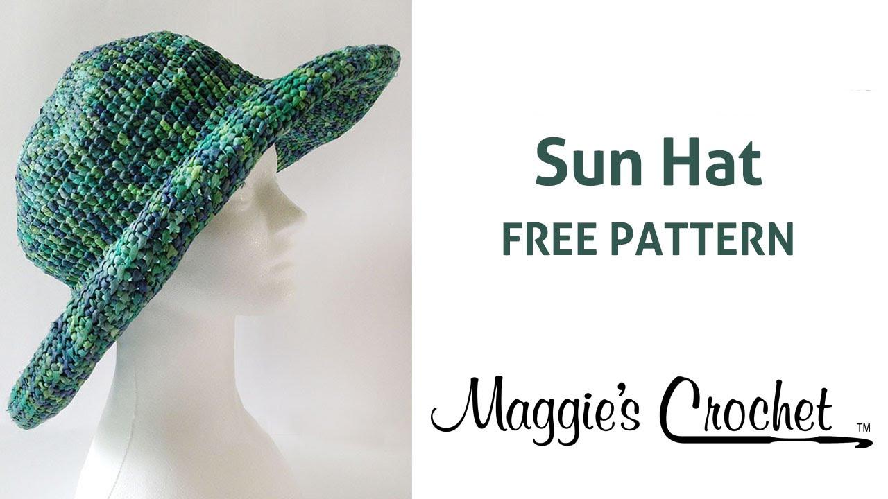 Raffia Sun Hat Free Crochet Pattern Right Handed Youtube