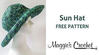 Raffia Sun Hat Free Crochet Pattern - Right Handed