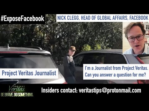 Facebook Head of Global Affairs FLEES When PV Journalist Confronts Him Over Comments In Leaked Tape!
